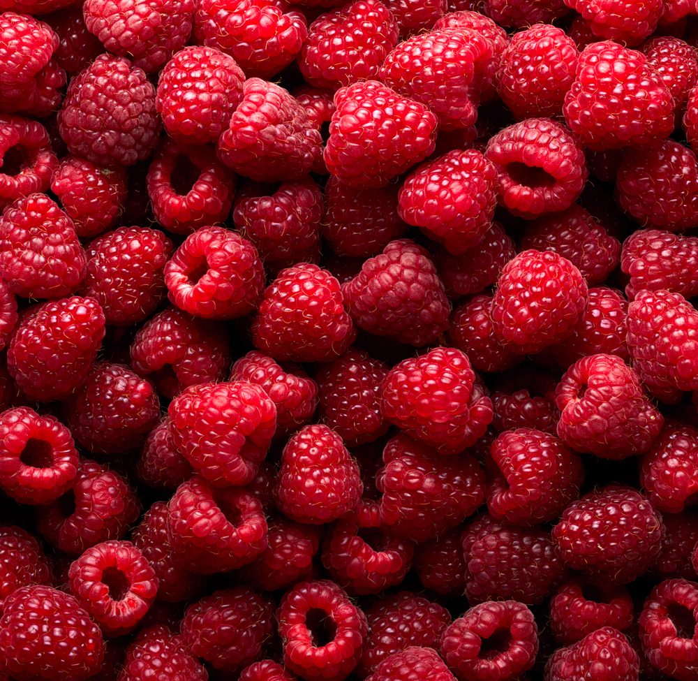 Raspberry fruit background