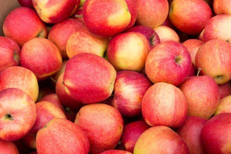 Closeup to Pink Apples