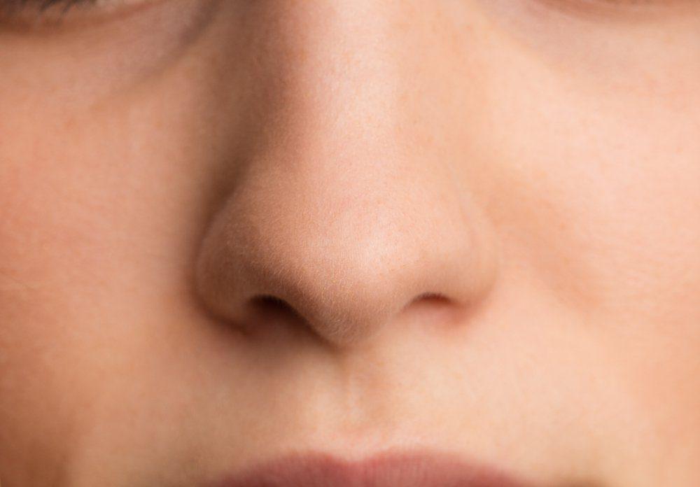teenager's nose close up