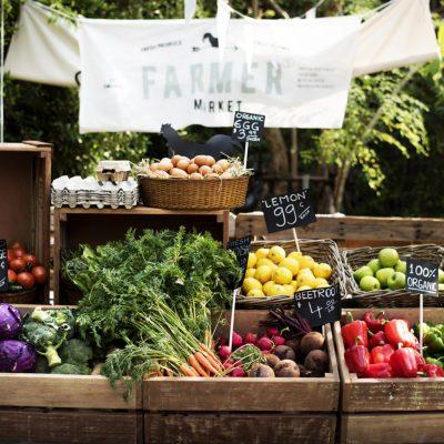 Fresh Local Organic Vegetable at Farmers Market; Shutterstock ID 610809005; Job (TFH, TOH, RD, BNB, CWM, CM): TOH