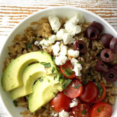 A Simple Greek-Style Rice Bowl for Two