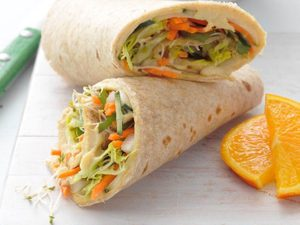 Make This Hummus and Veggie Wrap When You're Short On Time