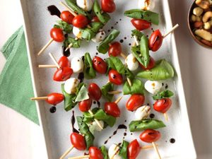Replace Your Veggie Platter With Caprese Salad Kebabs