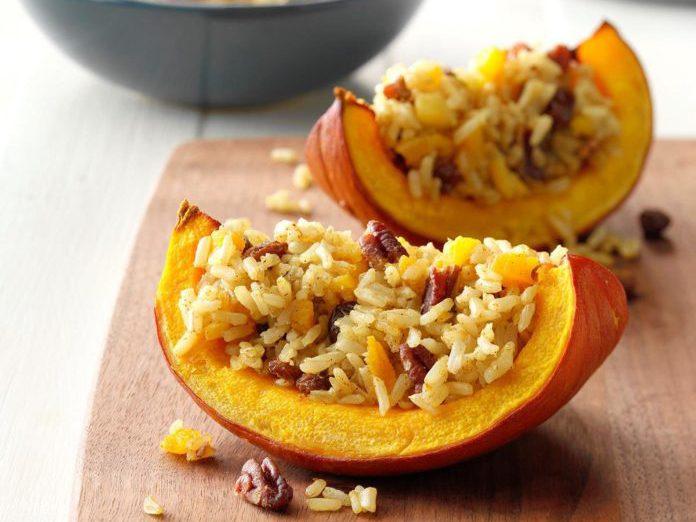 healthy thanksgiving recipes   baked pumpkin