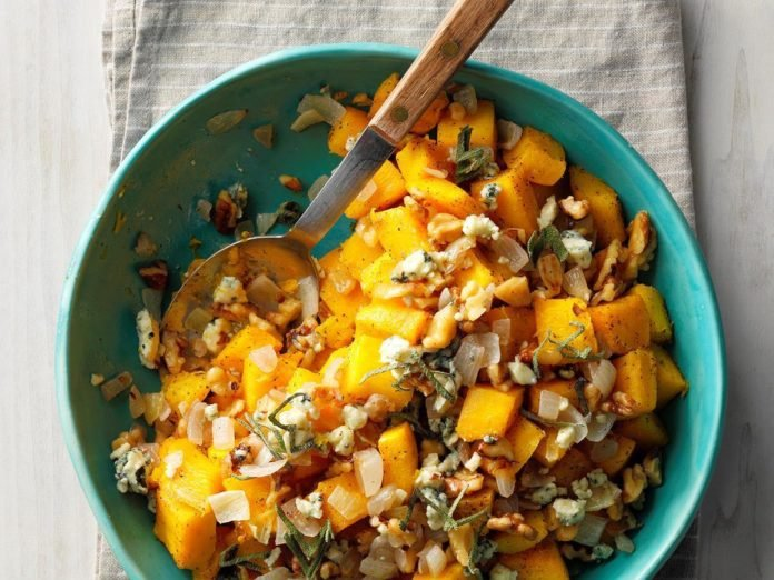 Easy Thanksgiving Side: Pumpkin Salad with Walnuts and Blue Cheese