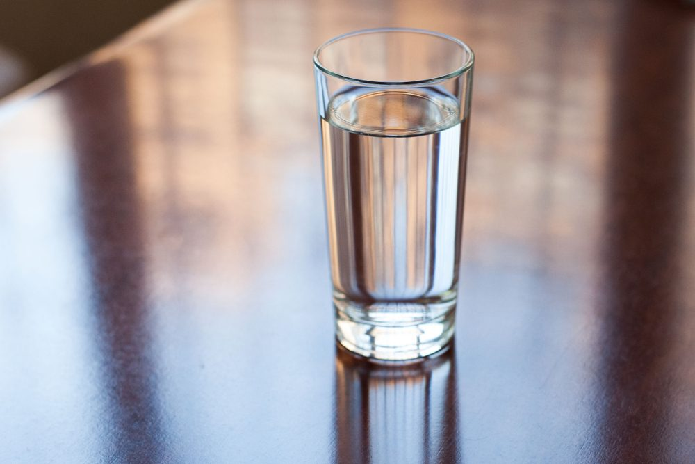 Glass of water close-up. Drink