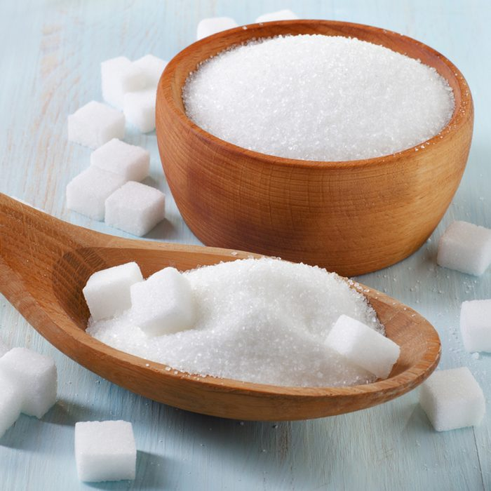 Sugar on wooden table. Selective focus; Shutterstock ID 167256818; Job (TFH, TOH, RD, BNB, CWM, CM): TOH