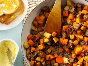 Make This Sausage and Sweet Potato Hash For a Hearty Brekkie