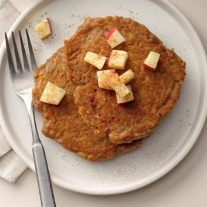 Apple-Cinnamon Quinoa Pancakes for Sunday Mornings in the Fall
