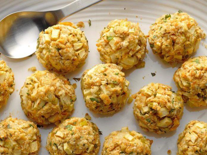 healthy thanksgiving recipes   apple stuffing balls
