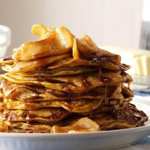 A Stack of Maple Syrup-Drizzled Pumpkin Pancakes Is All We Want This Fall