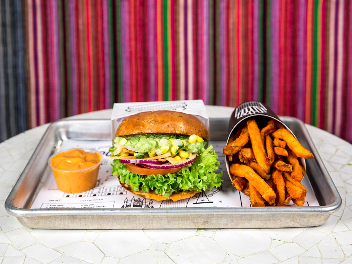 guac burger at by chloe toronto