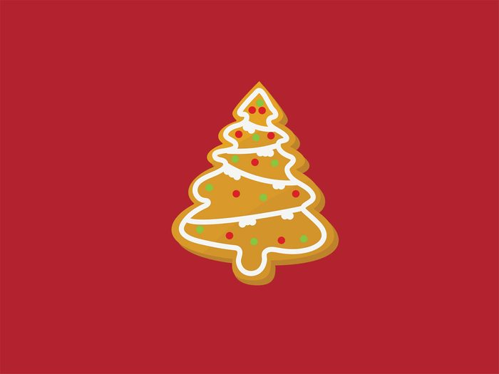 binge at a holiday party christmas cookie