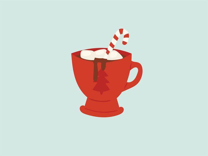 binge at a holiday party hot chocolate