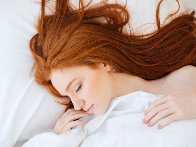 flu season - woman sleeping