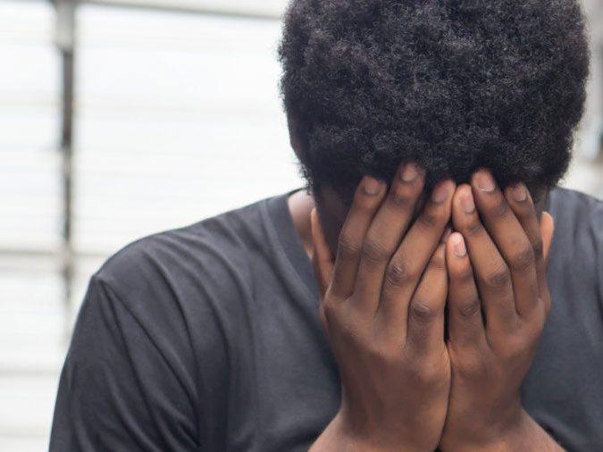 men domestic violence - sad man