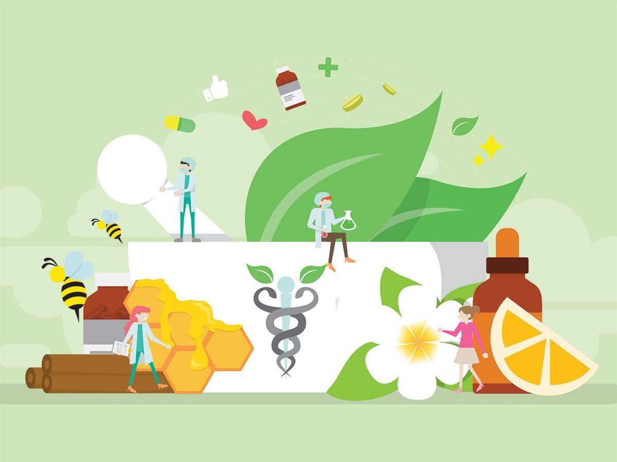 illustration natural medicine