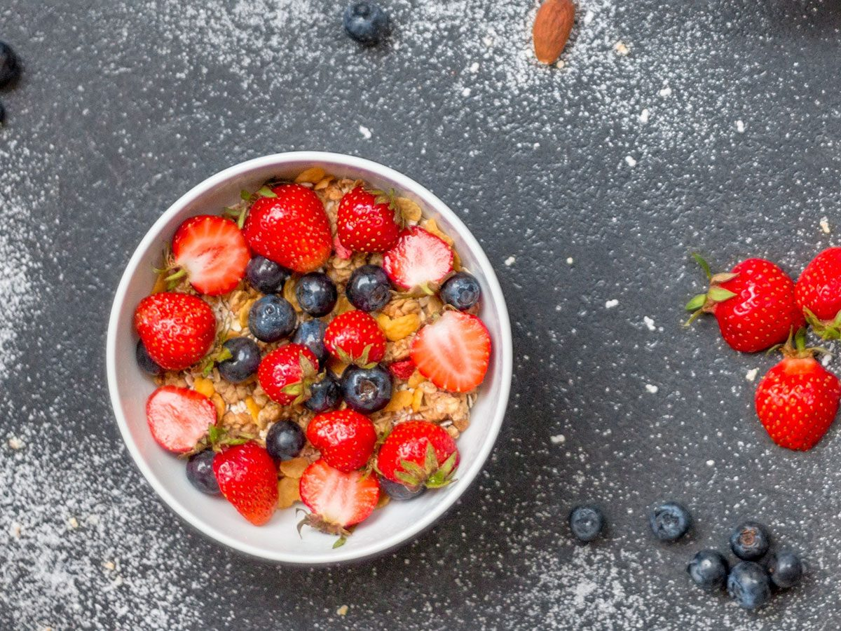 pantry power foods oats nuts blueberries kefir