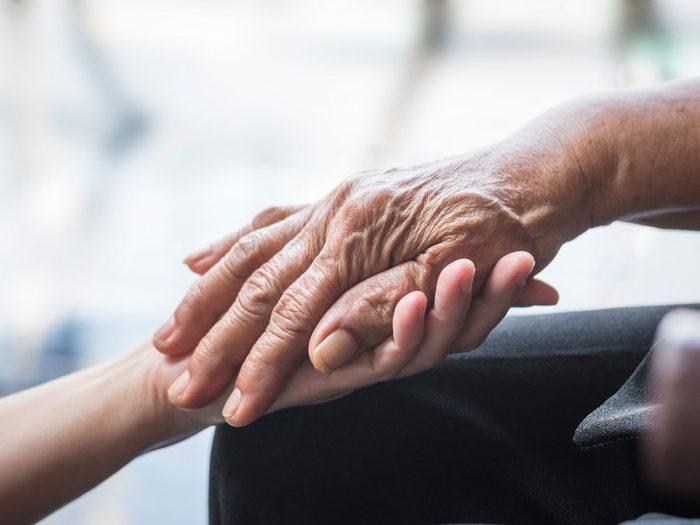 Alzheimer's Disease - hands holding