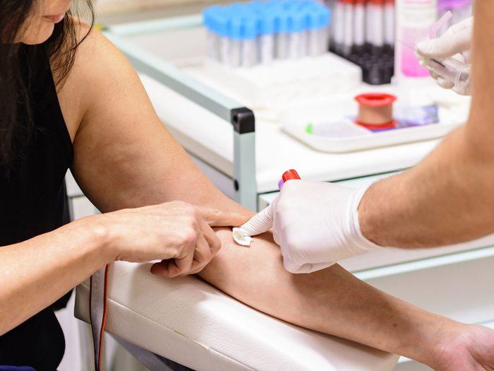 Alzheimer's Disease - getting blood taken
