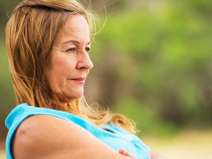 genetics - woman sitting outside