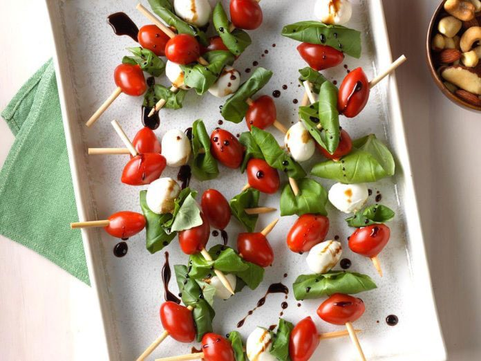 new years eve party recipes caprese salad