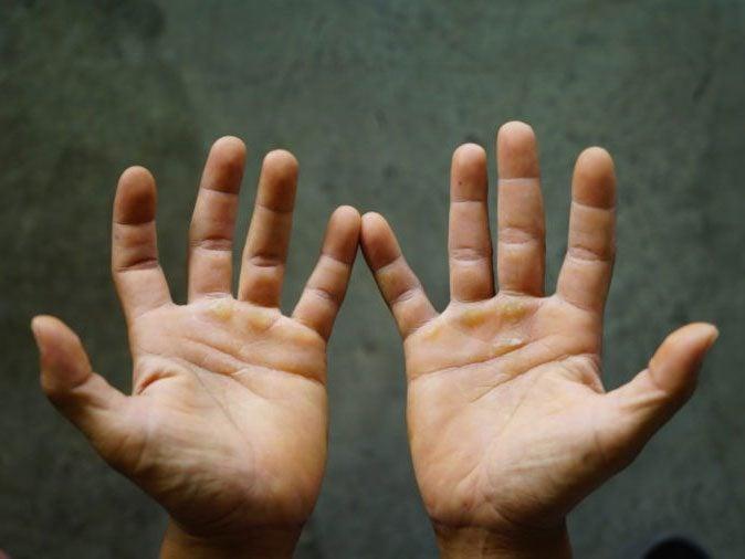human body - a man's hands