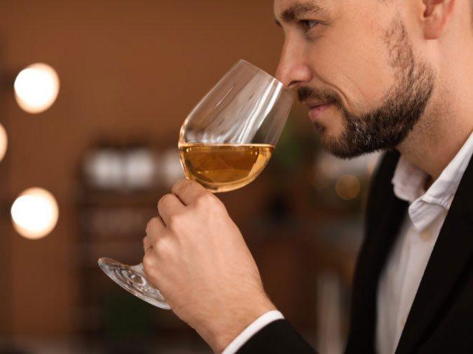 human body - man drinking wine