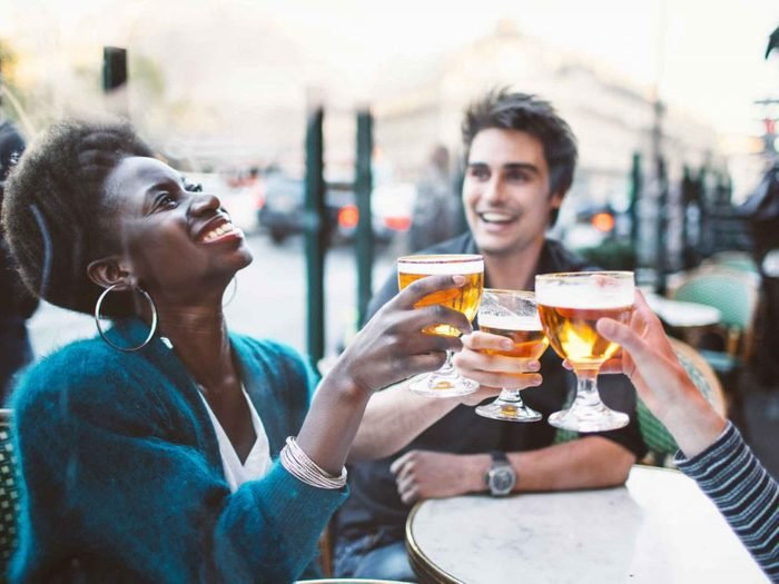 naturally charming people - friends having drinks