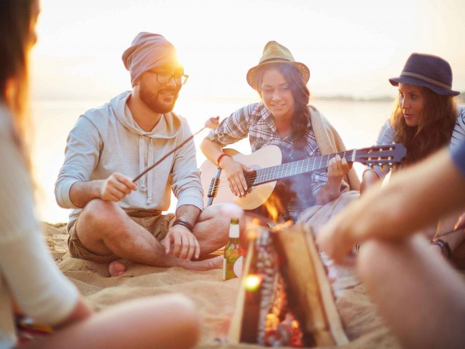 naturally charming people - friends camping