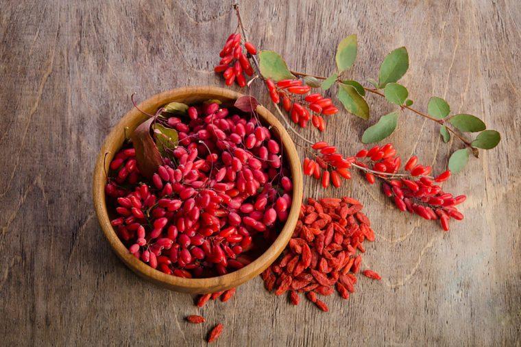 Goji berries in a bowl