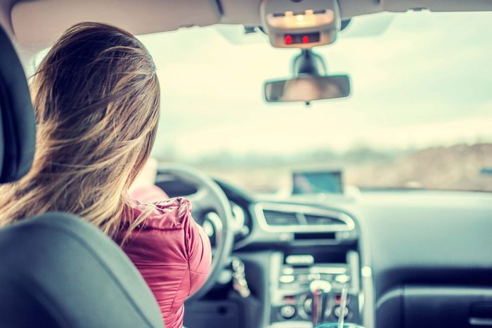 woman in driver's seat