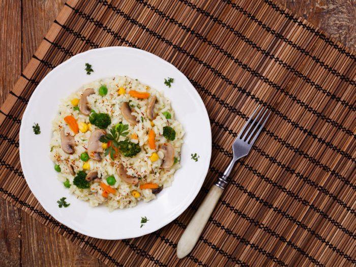 Healthy Weeknight Dinner Recipe   Mushroom Quinoa Risotto