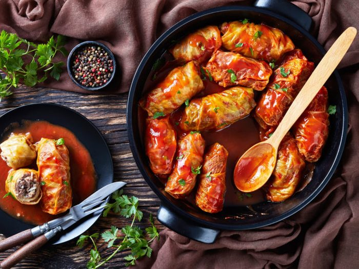 Healthy Weeknight Dinner Recipe   Quinoa Cabbage Rolls