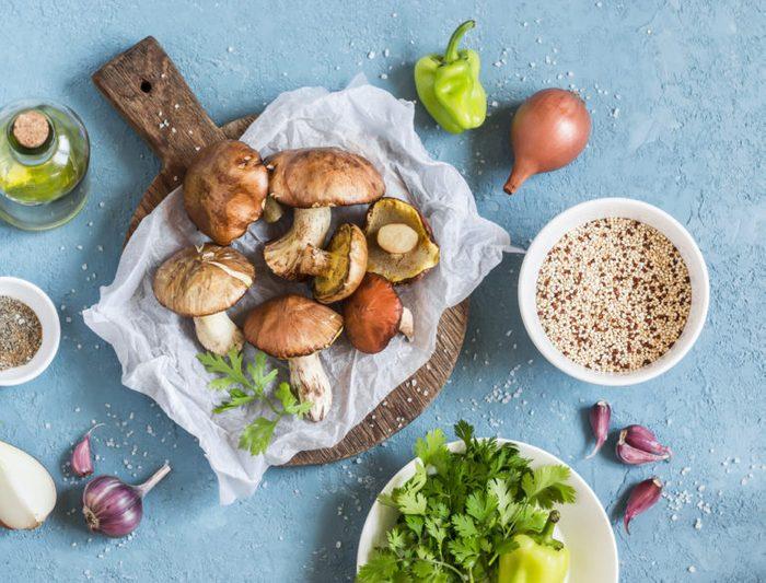 Healthy Weeknight Dinner Recipe   Mushroom and Quinoa Salad