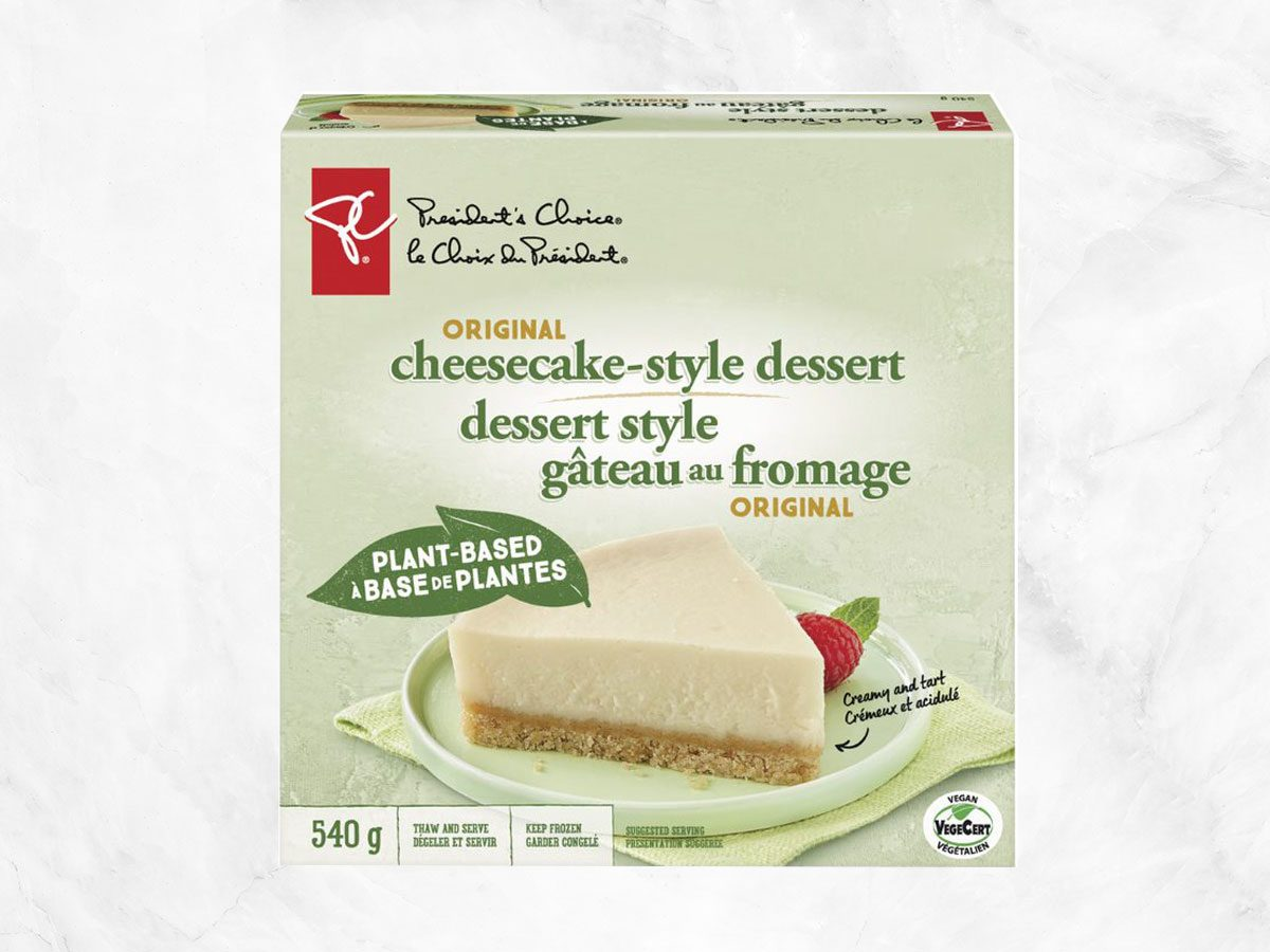 president's choice plant-based staples cheesecake-style dessert