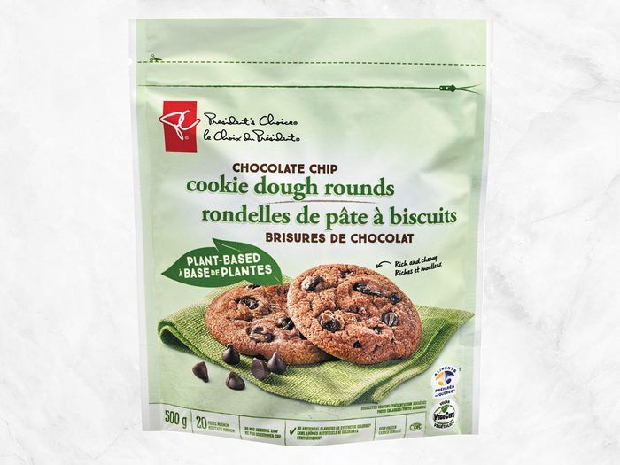 president's choice plant-based staples chocolate chip cookies