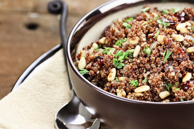 Healthy Weeknight Dinner Recipe | Quinoa Cranberry Salad
