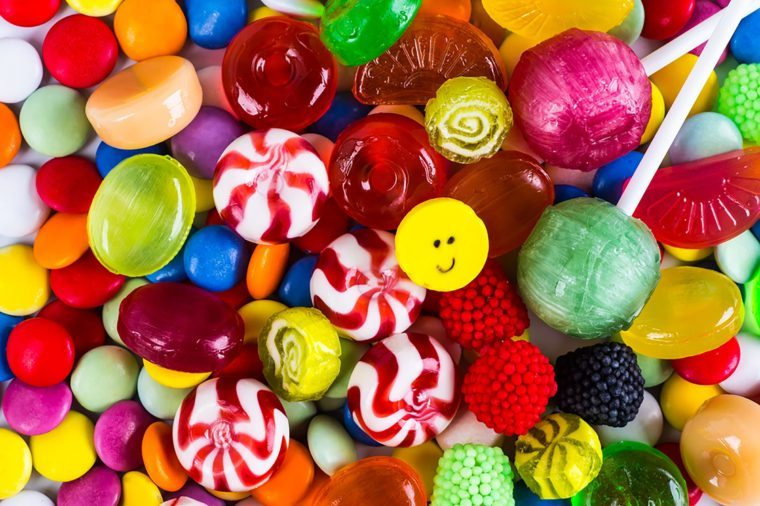 Foods to avoid before flying   Candy