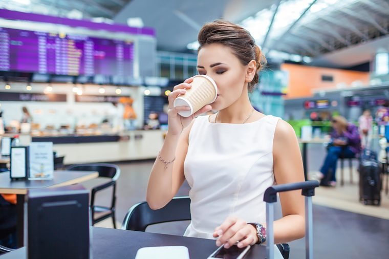 Foods to avoid before flying   Coffee