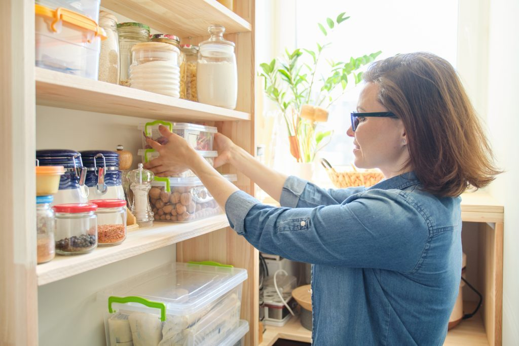 woman in home pantry