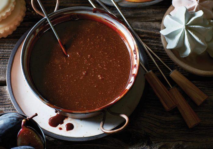 Healthy Chocolate Recipes | Chocolate Hazelnut Fondue