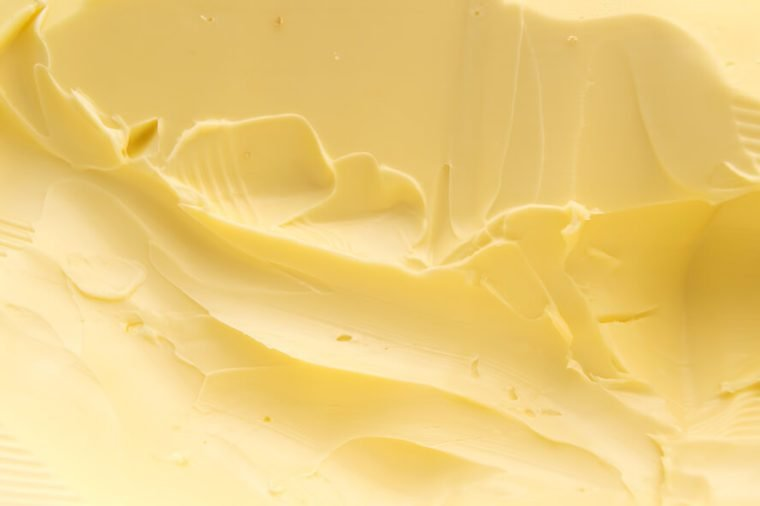 Closeup of a spreadable yellow butter.