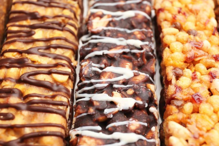 Yummy cereal bars, closeup
