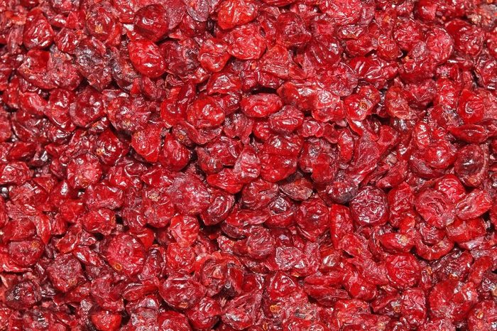 Heap of dried cranberries