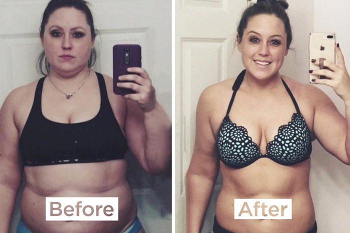 keto dietos nuotraukos prieš ir po