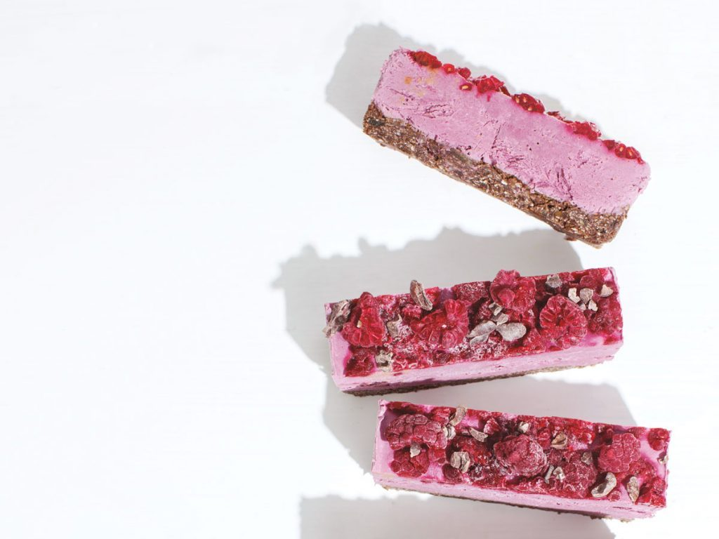 Vegan Raspberry Cacao Slices