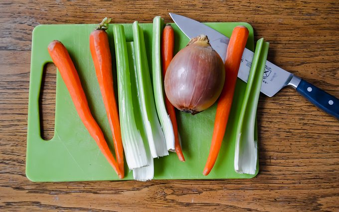 Vegetables before cutting