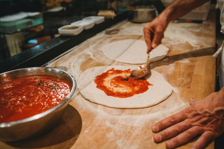 Gluten-free Diet | Celiac Disease | Gluten sensitivity | Gluten Intolerance | Pizza chef preparing pizza