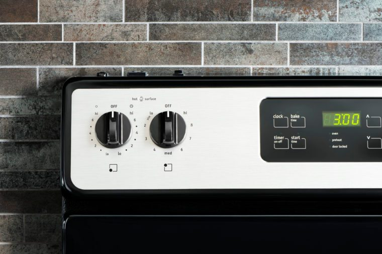 Stove panel control